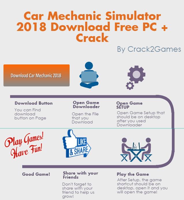 Car Mechanic Simulator 18 download crack free