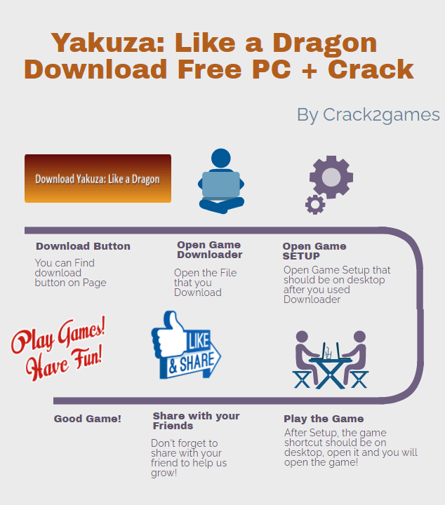 Yakuza Like a Dragon download crack free